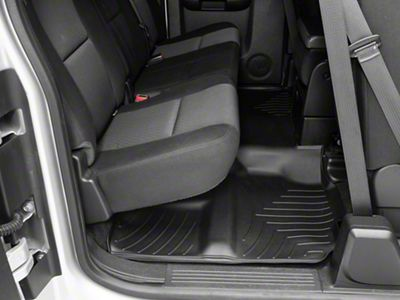 Weathertech DigitalFit Front & Rear Floor Liners - Black (07-13 Silverado 1500 Extended Cab, Crew Cab, Excluding Hybrid)