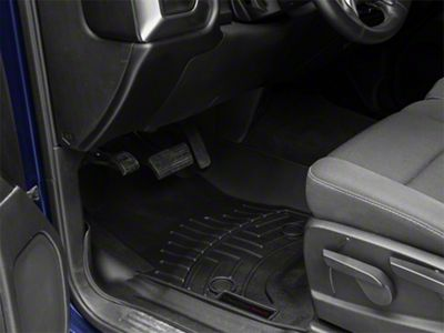 Weathertech DigitalFit Front & Rear Floor Liners w/ Underseat Coverage - Black (14-18 Silverado 1500 Crew Cab)