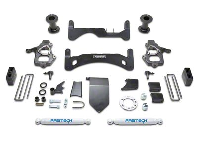 Fabtech 6 in. GEN II Basic Lift System w/ Shocks (14-18 2WD/4WD Silverado 1500 Double Cab, Crew Cab)