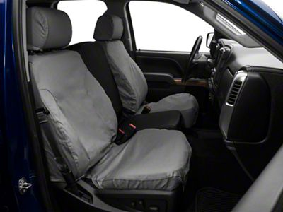 Covercraft Front Row SeatSaver Seat Covers - Polycotton Gray (07-18 Silverado 1500 w/ Bucket Seats)