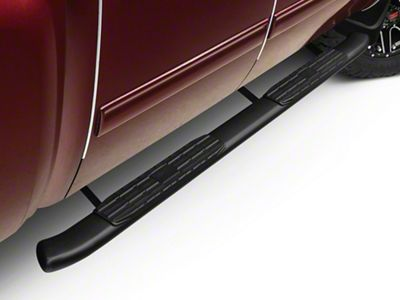 Barricade Pinnacle 4 in. Oval Bent Rocker Mount Side Step Bars - Black (07-13 Silverado 1500 Extended Cab, Crew Cab)