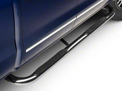 Barricade 3 in. Body Mount Side Step Bars - Stainless Steel (14-18 Silverado 1500)