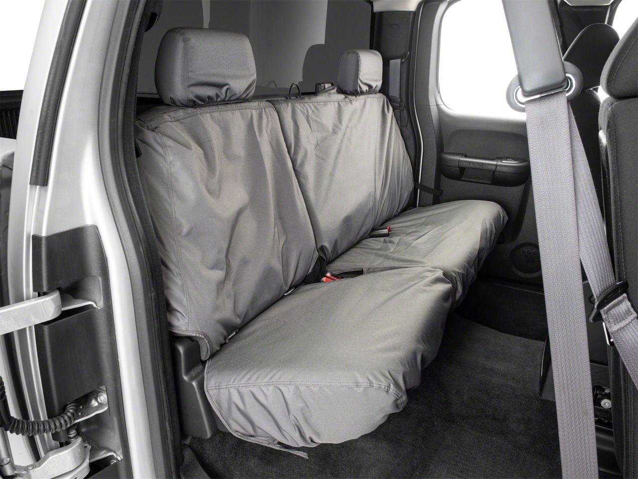 Covercraft SeatSaver Waterproof Second Row Seat Cover - Gray (07-13 Silverado 1500 Extended Cab, Crew Cab)