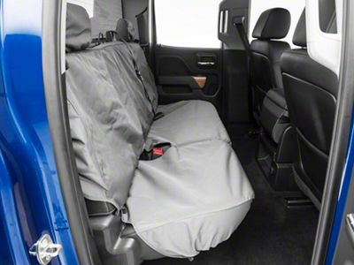Covercraft Second Row SeatSaver Seat Cover - Waterproof Gray (14-18 Silverado 1500 Double Cab, Crew Cab)