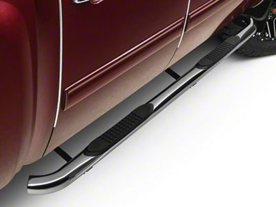 Barricade 3 in. Side Step Bars - Polished Stainless - Rocker Panel Mount (07-13 Silverado 1500)