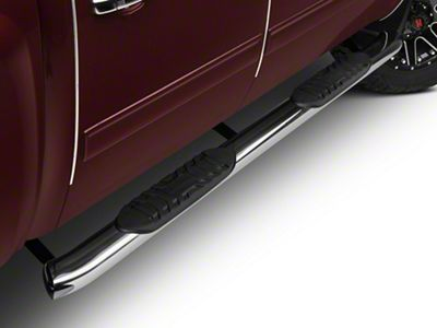 Barricade 5 in. Oval Bent End Body Mount Side Step Bars - Stainless Steel (07-13 Silverado 1500)