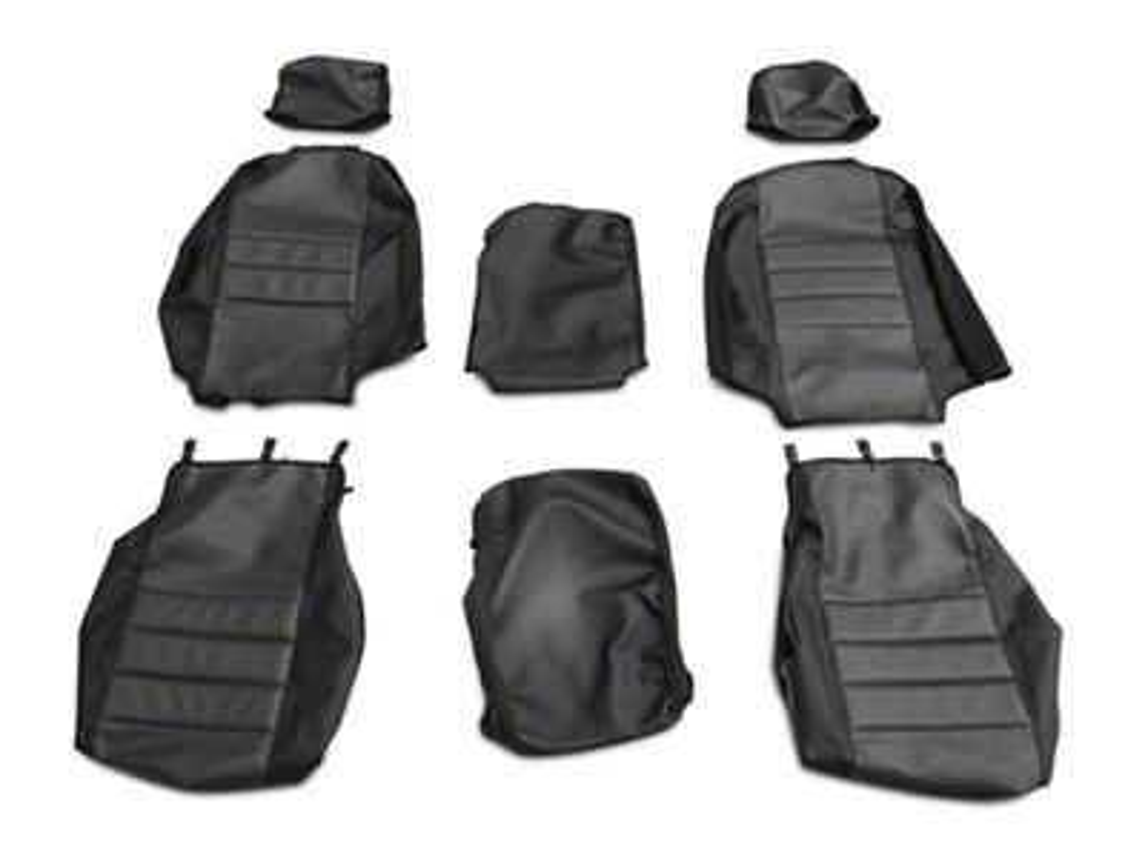 Fia Custom Fit Leatherlite Front Seat Cover - Gray (07-13 Silverado 1500 w/ Bench Seat)