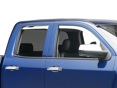 Putco Element Chrome Window Visors - Front & Rear (14-18 Silverado 1500 Double Cab, Crew Cab)