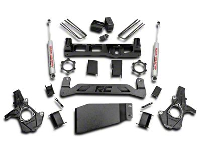 Rough Country 5 in. Suspension Lift Kit w/ Shocks (07-13 4WD Silverado 1500)