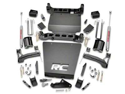 Rough Country 5 in. Suspension Lift Kit w/ Shocks - Bracket Kit (14-18 4WD Silverado 1500)