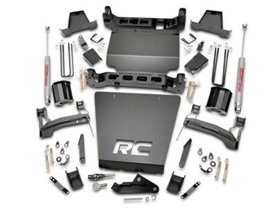 Rough Country 7 in. Suspension Lift Kit w/ Shocks (14-18 4WD Silverado 1500 w/ Stock Cast Steel or Aluminum Control Arms)