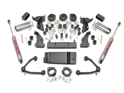 Rough Country 4.75 in. Suspension & Body Lift Kit w/ Upper Control Arms (14-18 4WD Silverado 1500 w/ Stock Cast Steel or Aluminum Control Arms)