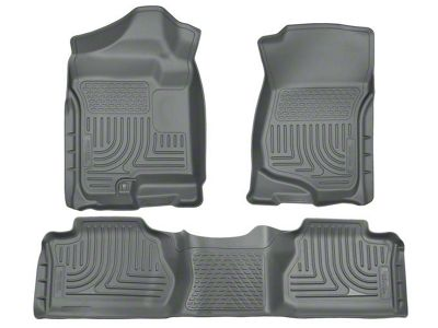Husky WeatherBeater Front & 2nd Seat Floor Liners - Footwell Coverage - Gray (07-13 Silverado 1500 Extended Cab, Crew Cab)