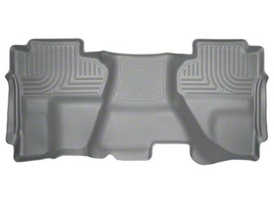 Husky WeatherBeater 2nd Seat Floor Liner - Full Coverage - Gray (14-18 Silverado 1500 Double Cab, Crew Cab)