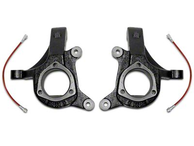 Max Trac 3 in. Lift Spindles w/ Extended Brake Lines (07-15 2WD Silverado 1500 w/ Stock Cast Steel Control Arms)