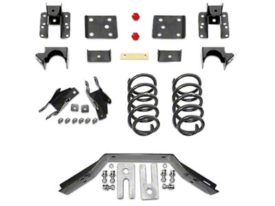 Max Trac Lowering Kit - 2 in. Front / 4 in. Rear (16-18 2WD Silverado 1500 w/ Stamped Steel Control Arms)