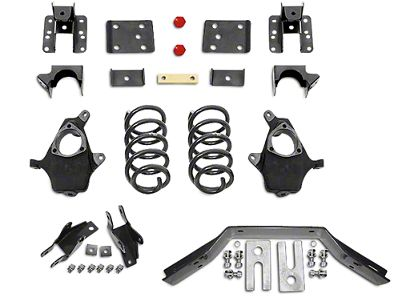 Max Trac Lowering Kit - 3 in. Front / 5 in. Rear (16-18 2WD Silverado 1500 w/ Stamped Steel Control Arms)