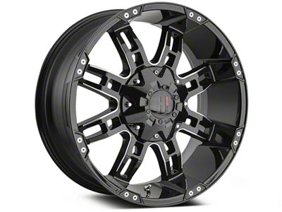 Havok Off-Road H103 Black Milled 6-Lug Wheel - 20x9 (99-18 Silverado 1500)