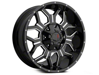 Havok Off-Road H106 Black Milled 6-Lug Wheel - 20x9 (99-18 Silverado 1500)