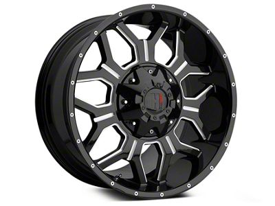 Havok Off-Road H106 Black Milled 6-Lug Wheel - 18x9 (99-18 Silverado 1500)