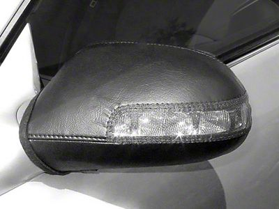 Covercraft Colgan Custom Mirror Bra - Black (14-15 Silverado 1500 Crew Cab w/ Puddle Light)