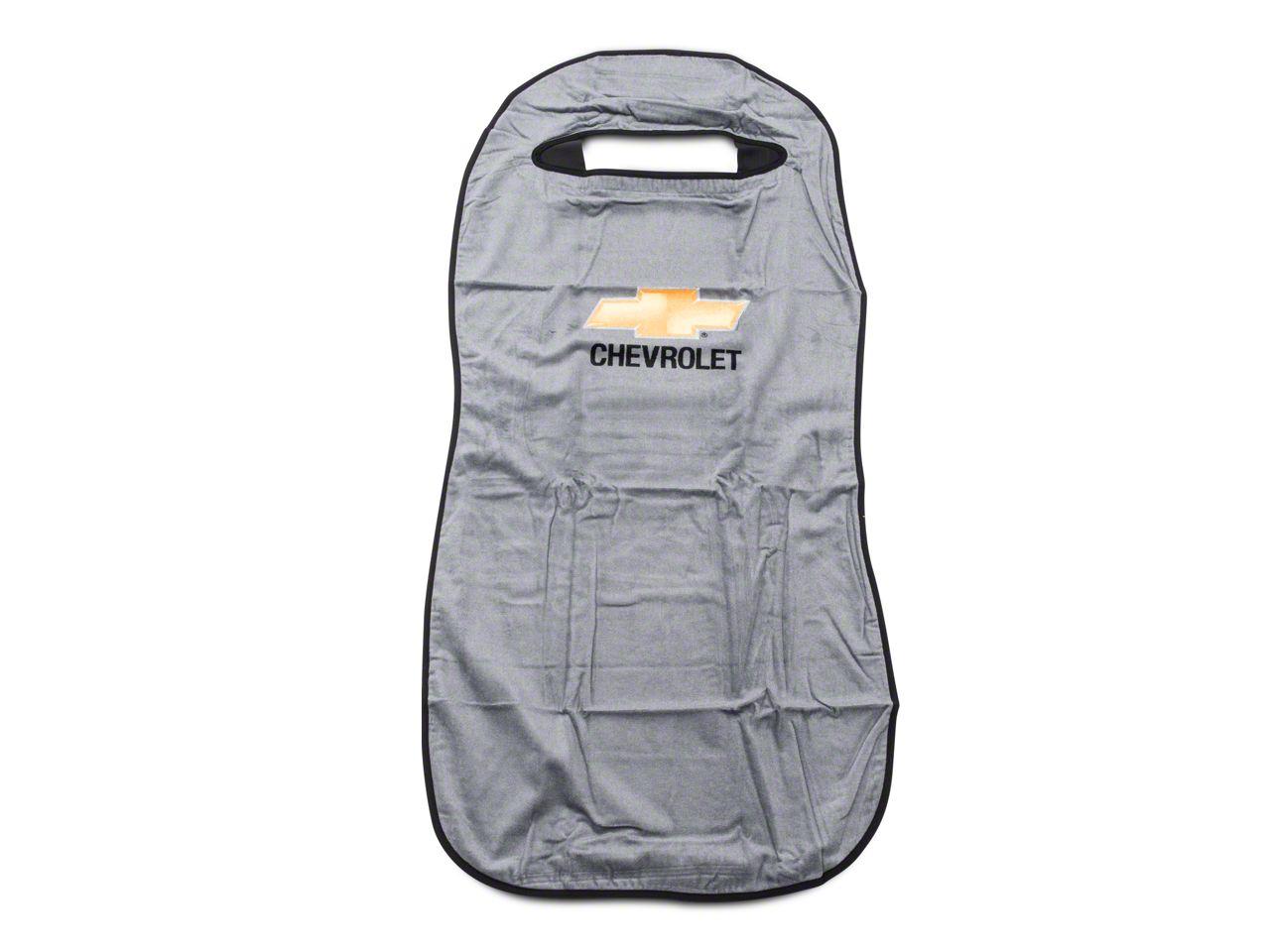 Seat Protector w/ Chevrolet Bowtie Logo - Gray (07-18 Silverado 1500)