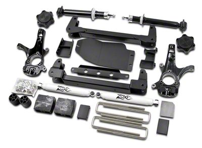 Zone Offroad 6.5 in. IFS Suspension Lift Kit w/ Shocks (07-13 4WD Silverado 1500, Excluding Hybrid)