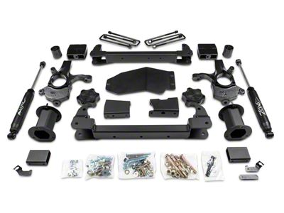 Zone Offroad 6.5 in. Strut Spacer Suspension Lift Kit w/ Shocks (07-13 4WD Silverado 1500, Excluding Hybrid)
