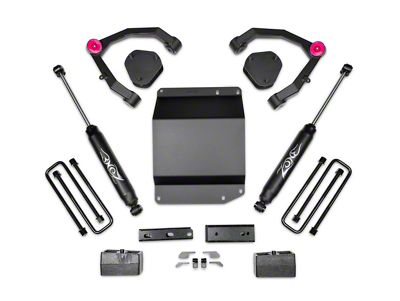 Zone Offroad 3.5 in. Adventure Series UCA Lift Kit w/ Shocks (07-13 4WD Silverado 1500)