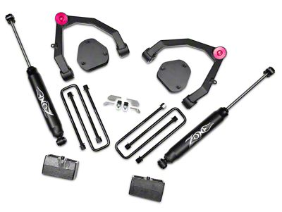Zone Offroad 3.5 in. Adventure Series UCA Lift Kit w/ Shocks (07-13 2WD Silverado 1500)