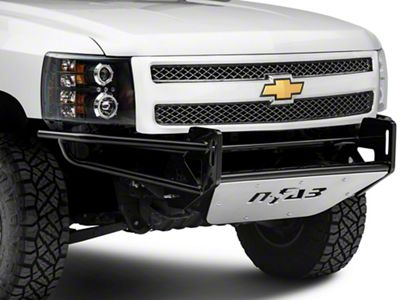 N-Fab R.S.P. Pre-Runner Front Bumper for Dual 38 in. Rigid LED Lights - Gloss Black (07-13 Silverado 1500)