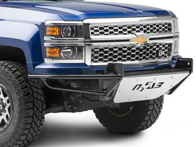 N-Fab R.S.P. Pre-Runner Front Bumper for One 38 in. Rigid LED Lights - Gloss Black (14-15 Silverado 1500)