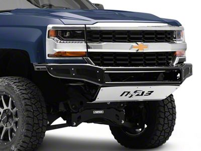 N-Fab M-RDS Radius Pre-Runner Front Bumper w/ Multi-Mount for LED Lights - Gloss Black (16-18 Silverado 1500)