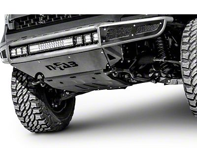 N-Fab M-RDS Radius Pre-Runner Front Bumper w/ Multi-Mount for LED Lights - Textured Black (14-15 Silverado 1500 w/ Wide Aftermarket Fender Flares)