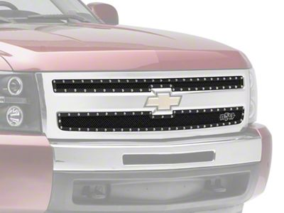 N-Fab Wire Mesh Upper Replacement Grilles - Textured Matte Black (07-13 Silverado 1500)