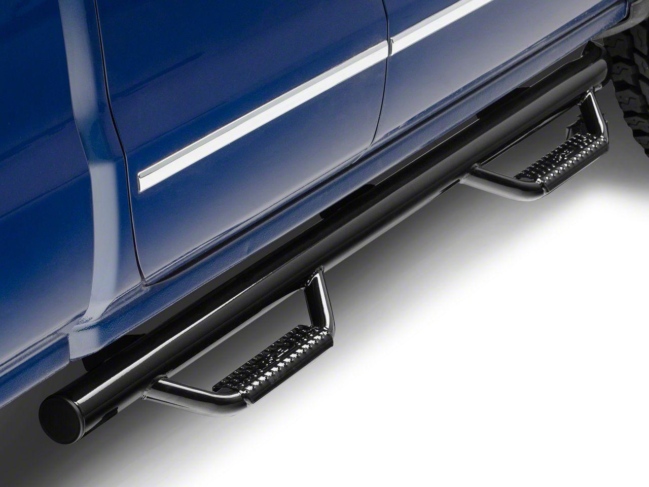 N-Fab Cab Length Nerf Side Step Bars - Gloss Black (14-18 Silverado 1500)