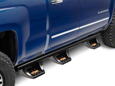 N-Fab Wheel 2 Wheel N-Durastep Bed Access Side Step Bars - Semi-Gloss Black (14-18 Silverado 1500 Double Cab, Crew Cab)