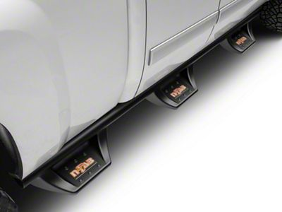 N-Fab Wheel 2 Wheel N-Durastep Bed Access Side Step Bars - Semi-Gloss Black (07-13 Silverado 1500 Extended Cab w/ Standard & Long Box, Crew Cab)