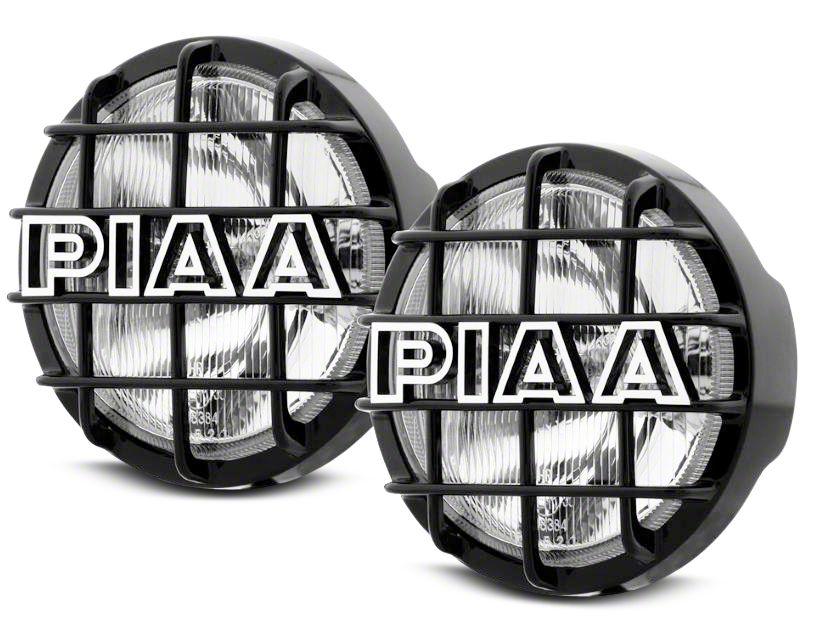 PIAA 520 Series 6 in. Round ATP Xtreme White Halogen Lights - Spot Beam - Pair