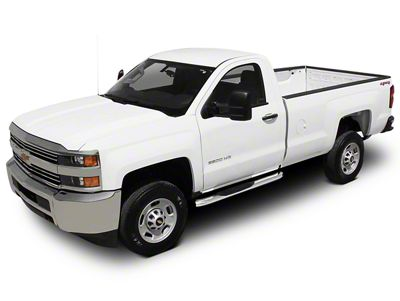Raptor Series 4 in. OE Style Curved Oval Body Mount Side Step Bars - Polished Stainless (07-13 Silverado 1500)