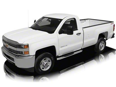 Raptor Series 5 in. OE Style Curved Oval Body Mount Side Step Bars - Polished Stainless (14-18 Silverado 1500)