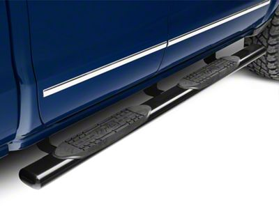 Raptor Series 5 in. Magnum Straight Oval Rocker Mount Side Step Bars - Black (14-18 Silverado 1500)