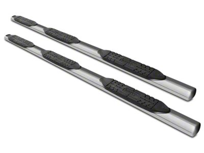Raptor Series 5 in. Oval Wheel to Wheel Body Mount Side Step Bars - Polished Stainless (07-13 Silverado 1500 Extended Cab & Crew Cab w/ Standard Box)