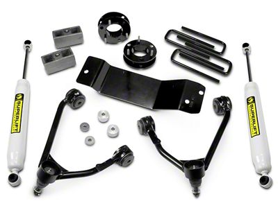 SuperLift 3.5 in. Upper Control Arm Leveling Kit w/ Superide Shocks (07-18 4WD Silverado 1500)