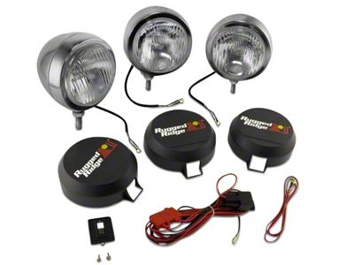 Rugged Ridge 6 in. Round HID Off-Road Fog Lights - Set of Three