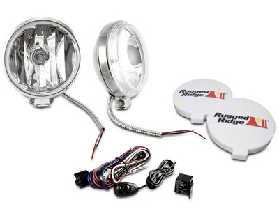 Rugged Ridge 6 in. Slim Halogen Fog Lights - Pair