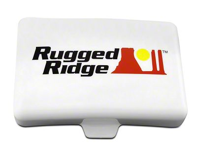 Rugged Ridge 5x7 in. Off-Road Light Cover - White (07-18 Silverado 1500)