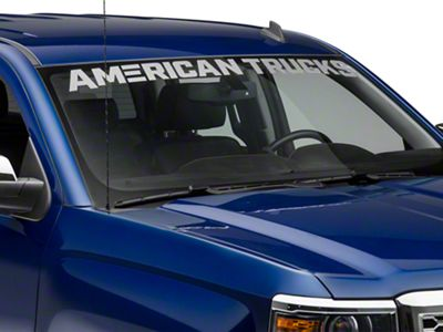AmericanTrucks Windshield Banner - Frosted (07-18 Silverado 1500)
