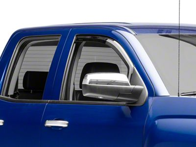Putco Tinted Element Window Visors - Channel Mount - Front Only (14-18 Silverado 1500 Double Cab, Crew Cab)