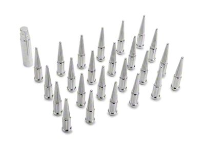 Chrome Spike Lug Nut Kit - 14mm x 1.5 (99-18 Silverado 1500)
